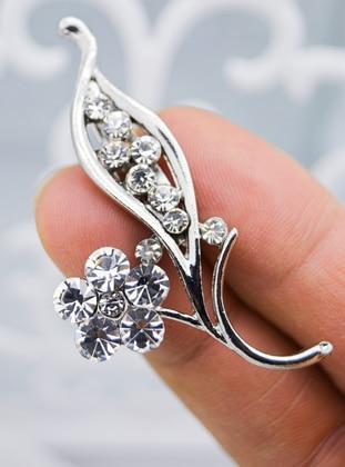 Silver tone - Brooch - Artbutika