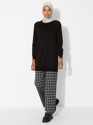 Anthracite - Checkered - Cotton - Pants