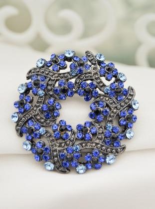 Blue - Brooch - Artbutika