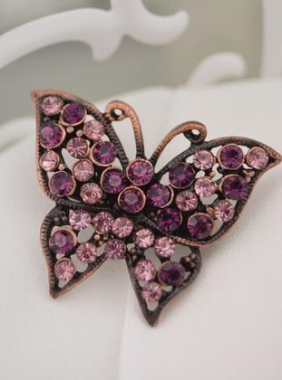 Purple - Brooch - Artbutika