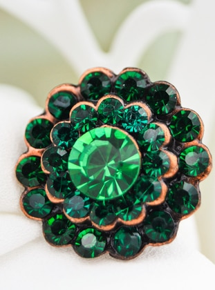 Green - Brooch