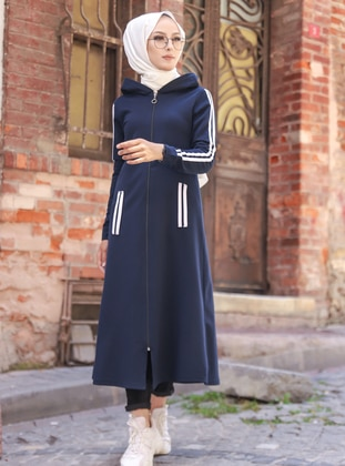 Navy Blue - Unlined - Abaya - Tofisa Sports