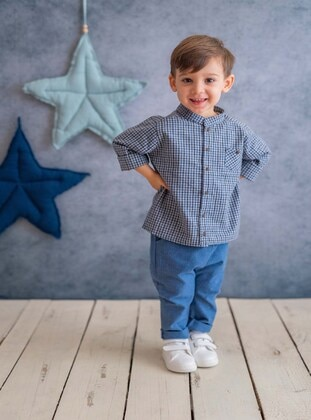 Navy Blue - baby shirts