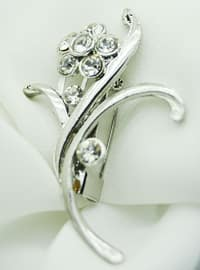 Silver tone - Brooch