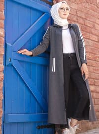 Anthracite - Unlined - Abaya - Sports