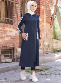 Navy Blue - Unlined - Abaya -  Sports