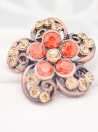 Bronze - Orange - Brooch