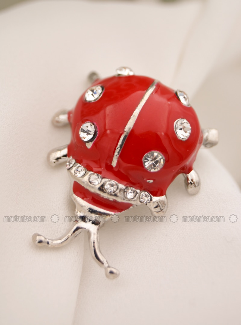 Red - Brooch