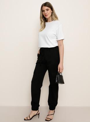 Black - Plus Size Pants