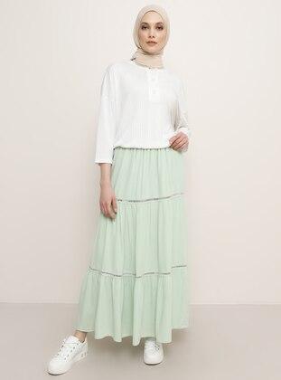 Sea-green - Green - Viscose - Skirt