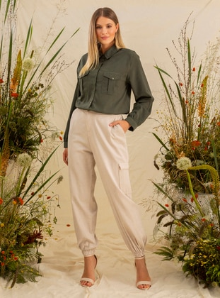 Stone -  - Plus Size Pants