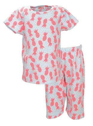 Multi - Crew neck -  - White - Multi - Girls` Pyjamas