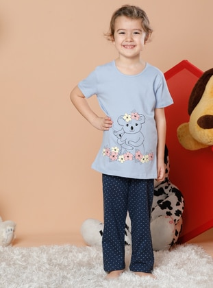 Multi - Crew neck - - Multi - Girls` Pyjamas