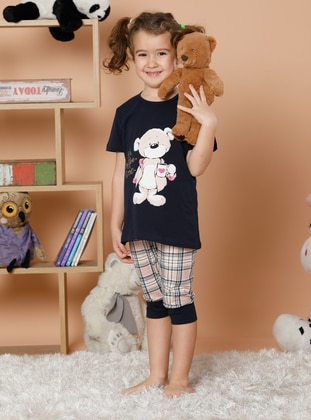Multi - Crew neck -  - Multi - Girls` Pyjamas