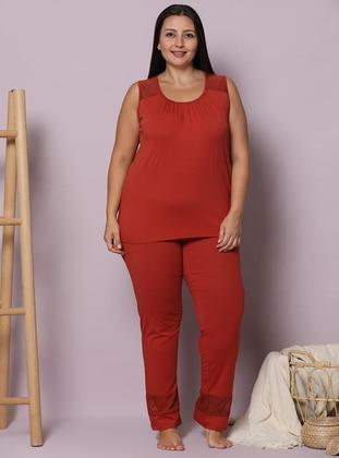 Terra Cotta - Crew neck -  - Pyjama Set