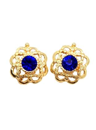 Gold - Blue - Earring