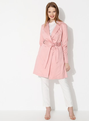 Pink - Unlined - Shawl Collar -  - Jacket