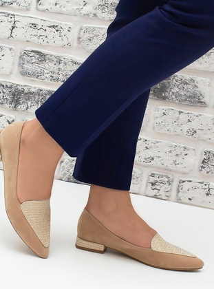 Beige - Nude - Flat - Flat Shoes