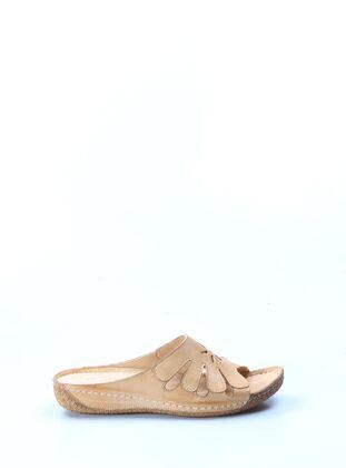 Beige - Sandal - Girls` Shoes
