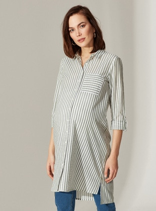 Green - Maternity Blouses Shirts