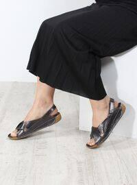 Anthracite - Metallic - Sandal - Sandal