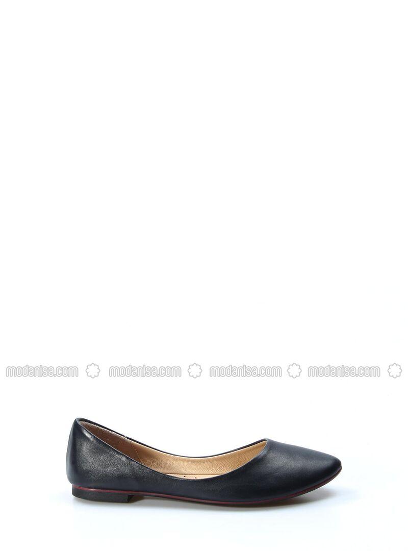 Navy Blue - Flat - Sandal
