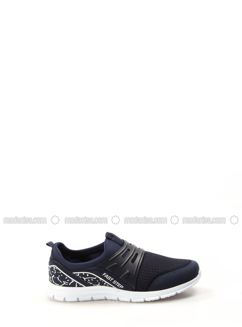 Navy Blue - Sport - Casual - Girls` Shoes