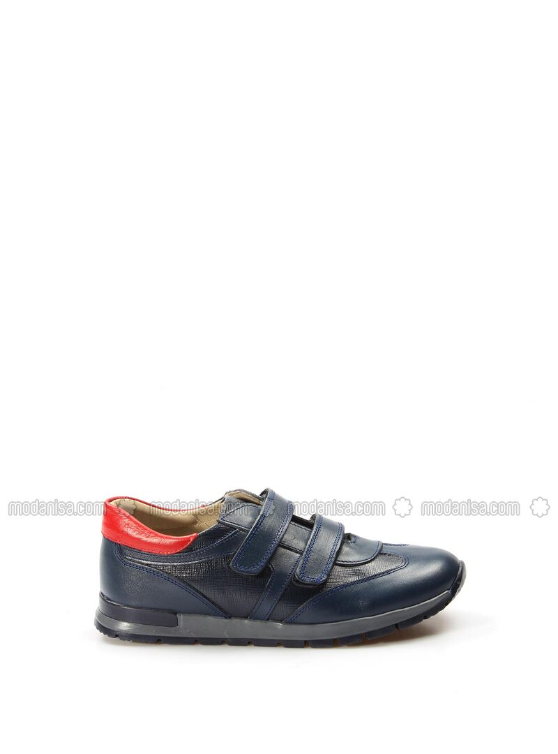 Red - Navy Blue - Casual - Girls` Shoes
