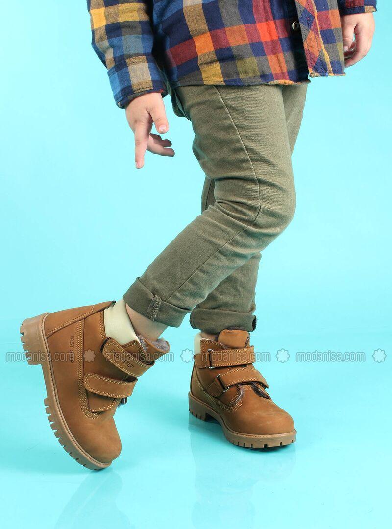 Tan - Boys` Boots