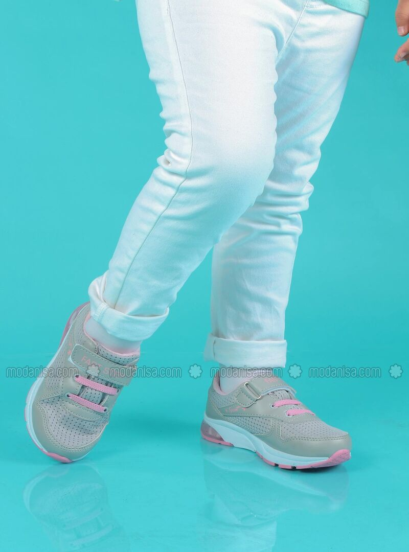 Pink - Gray - Sport - Girls` Shoes