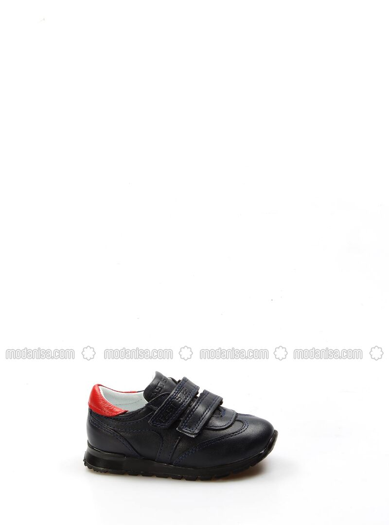 Red - Navy Blue - Sport - Girls` Shoes