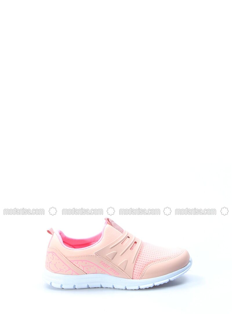 Salmon - Sport - Casual - Girls` Shoes