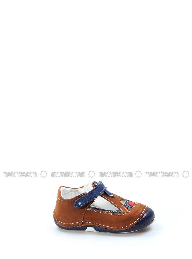 Navy Blue - Tan - Girls` Shoes