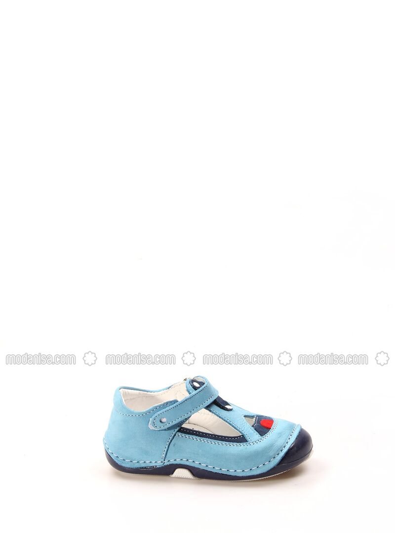 Navy Blue - Turquoise - Girls` Shoes