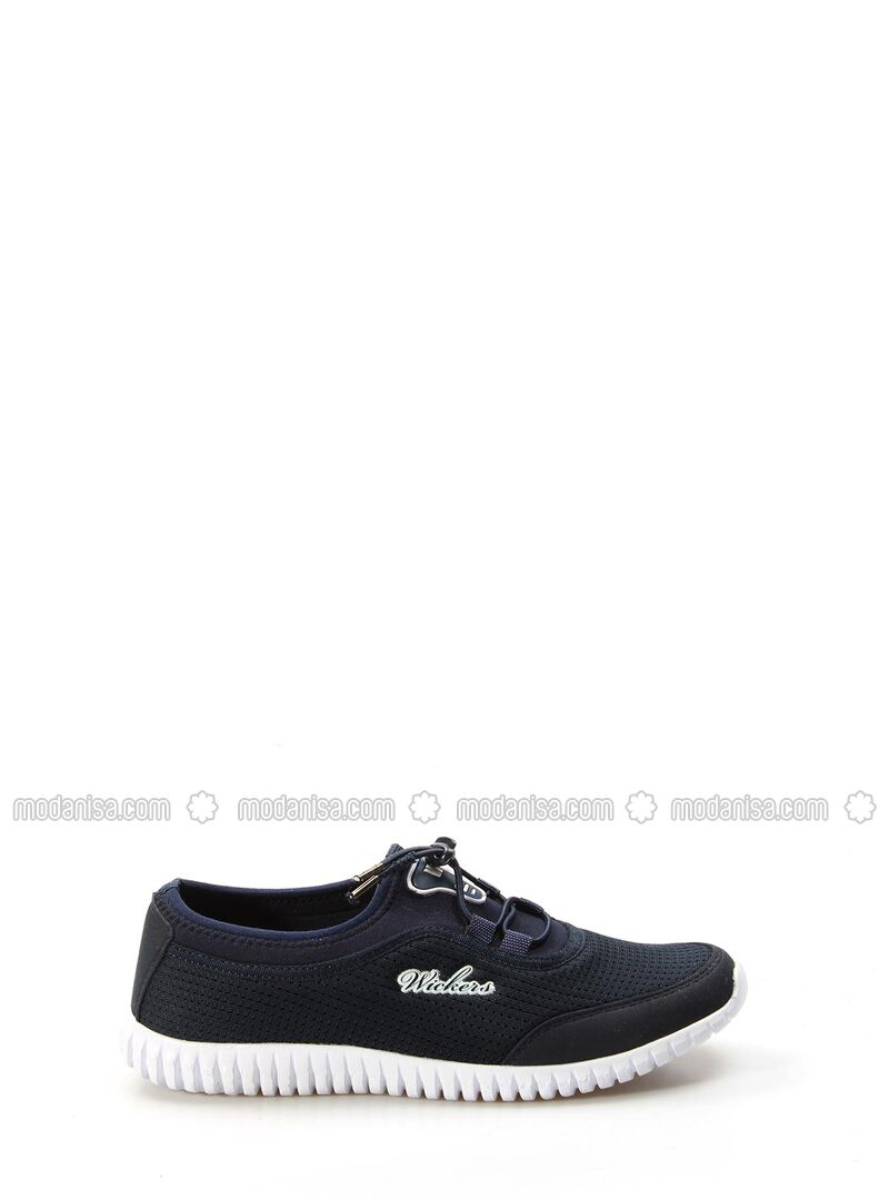 White - Navy Blue - Sport - Sports Shoes