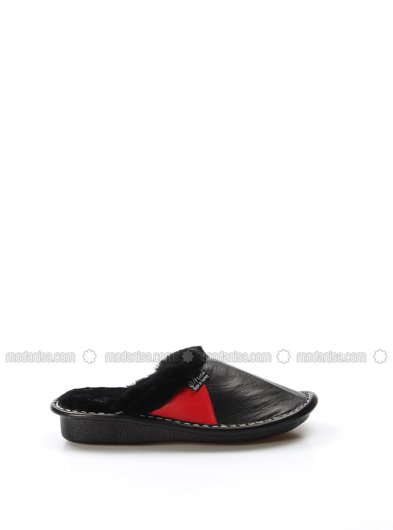 Red - Black - Sandal - Slippers