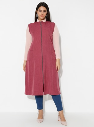 Plum - Crew neck - Plus Size Vest