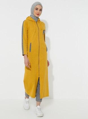 Mustard - Stripe - Unlined -  - Topcoat
