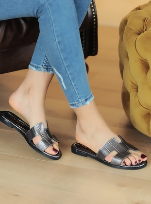 Silver - Sandal - Sandal - Pembe Potin