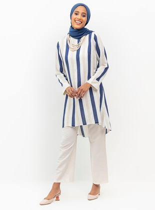 Unlined - Blue - Stripe - Nylon - Viscose - Evening Suit
