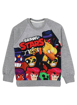 Crew neck - Gray - Boys` Sweatshirt
