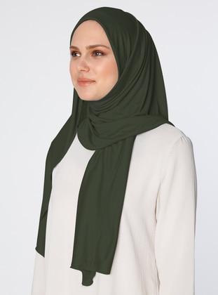 Khaki - Combed Cotton - Shawl