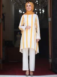Unlined - Mustard - Stripe - Nylon - Viscose - Evening Suit