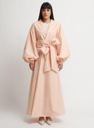 Salmon - V neck Collar - Dress