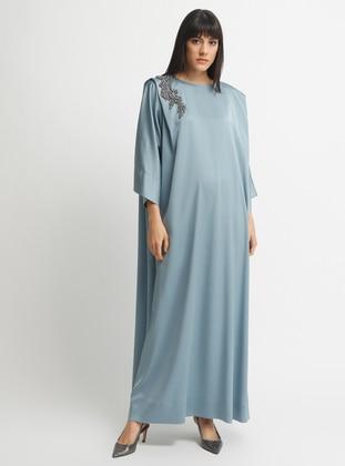 Indigo - Blue - Crew neck - Dress