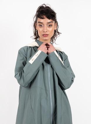 Green Almond - Unlined - Crew neck - Topcoat