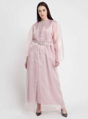 Pink - Point Collar - Dress
