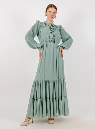 Mint - Crew neck - Fully Lined - Dress