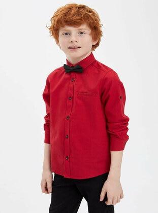 Red - Boys` Shirt - DeFacto