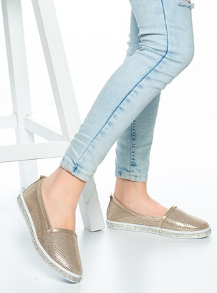 Gold - Gold - Flat - Flat Shoes